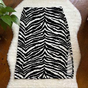Velvet Zebra Skirt